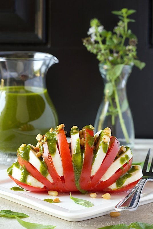 Basil Vinaigrette with Caprese Salad – the most delicious dressing ...