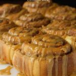 Easy Cinnamon Rolls with Caramel Icing -