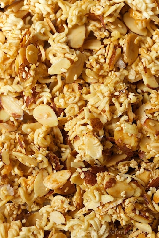 Healthy, Crunchy Salad Topping - this adds a delightful tasty touch to just about any salad. Also great for snacking, on peanut butter toast, with yogurt and on top of oatmeal.