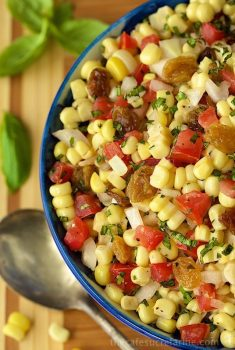 Warm Corn and Tomato Relish - Fabulous as a side, in salads, wraps, pitas, as a dip and on crostini. A zillion ways to use this delicious corn relish.