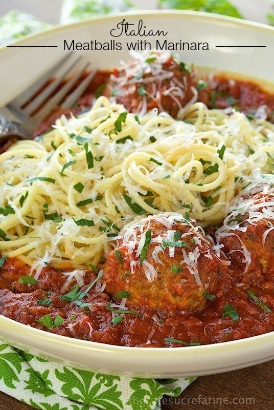 Italian Meatballs with Marinara - a delicious, classic recipe that always brings rave reviews!