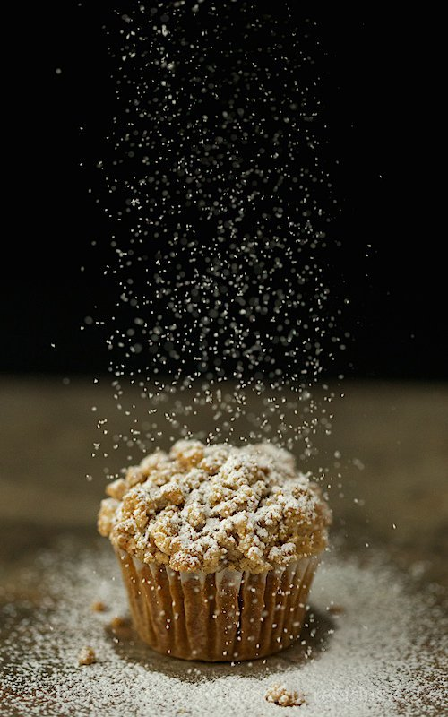 Pumpkin Crumb Muffins - Delicious, moist and full of wonderful, warm flavor, these muffins are topped with a thick layer of buttery crumble. Quite irresistible!