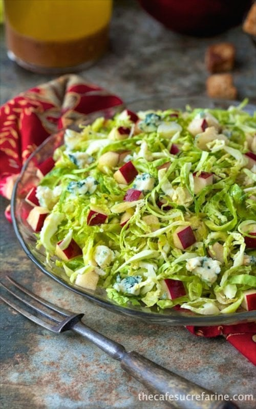 Shaved Brussels Sprout Apple Salad - It might be the warm cider and bacon dressing that takes it over the top but this salad has been a fabulous winner with everyone who's tried it.