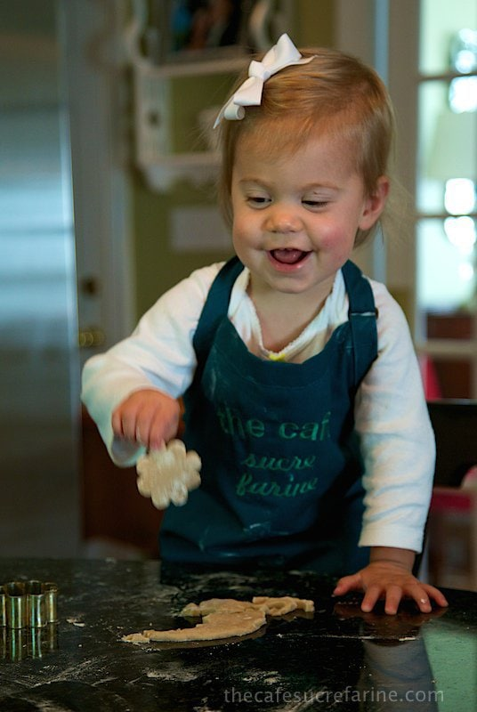 Emmy in the kitchen