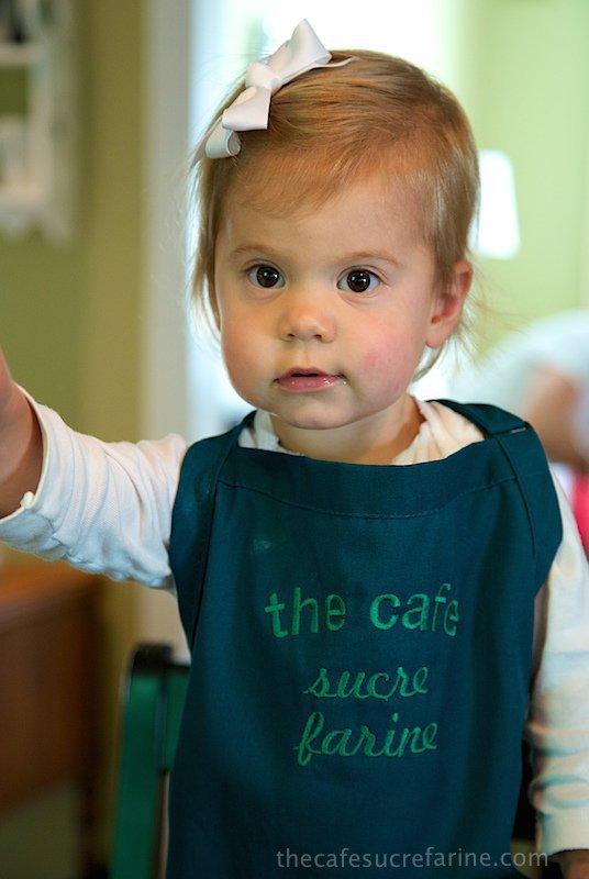Emmy in the kitchen.