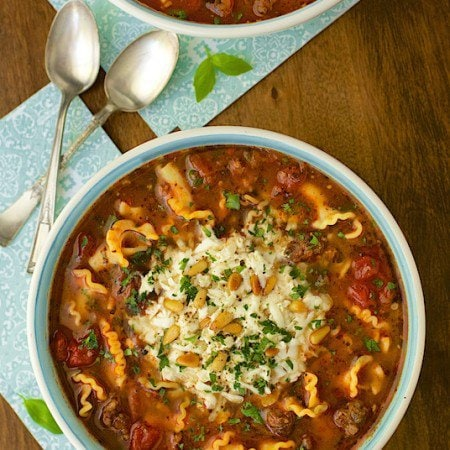 Lasagna Soup - all the flavor of traditional lasagna with half of the work!. My husband said it's the best soup he's ever had!