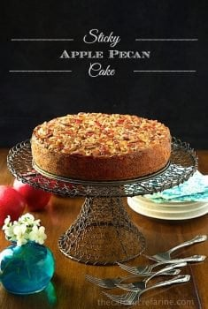 Sticky Apple Pecan Cake