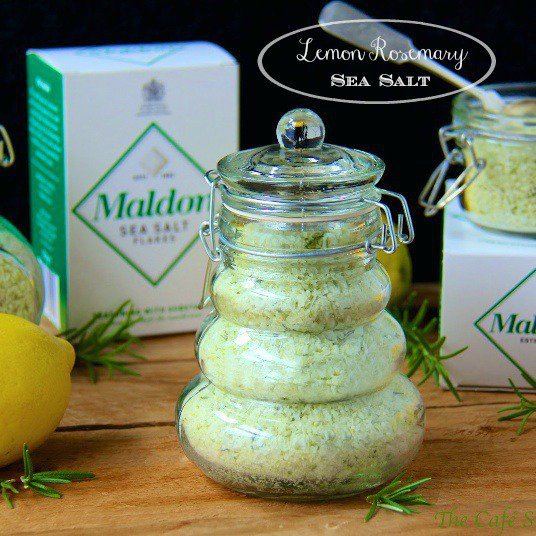 Lemon Rosemary Sea Salt - adds delicious flavor to anything it touches! A perfect gift for foodie friends too.