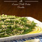 Make Ahead Green Beans with Lemon-Herb Panko Crumbs