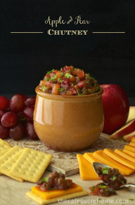 All these Festive, Fun, Fabulous Appetizers are either quick and easy, or make-head, perfect for the frenetic holiday season, or any other celebration time. Apple and Pear Chutney