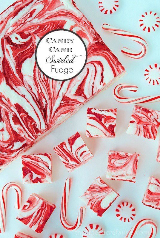 Candy Cane Fantasy Fudge - the most fun, festive and delicious fudge EVER! Oh, and it's easy too!