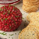 Pomegranate, Parsley and Pecan Cheeseball