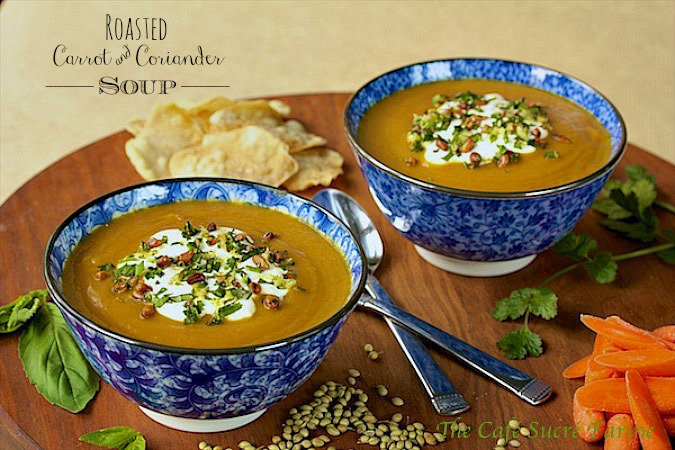 Roasted Carrot and Coriander Soup - if you're looking for a soup that everyone will love, this one is a definite crowd-pleaser. The soup bowls always come back empty.