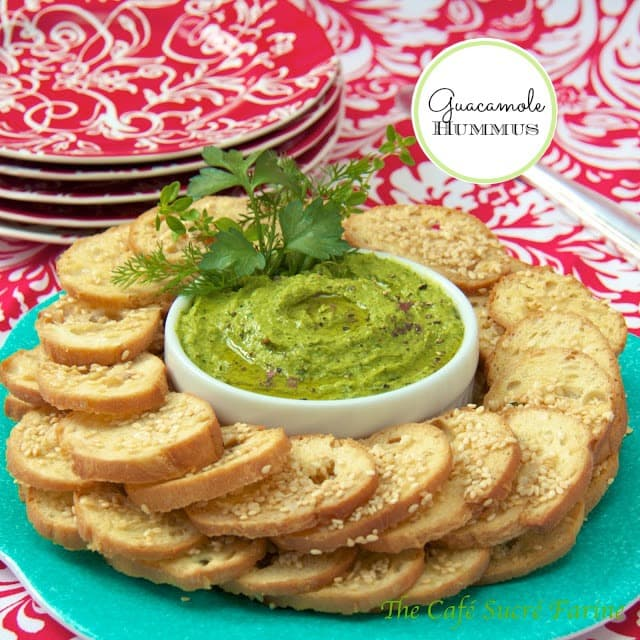 Guacamole Hummus - a delicious combination of guacamole and hummus. You'll be making this healthy dip over and over per request! Everyone seems to love it.