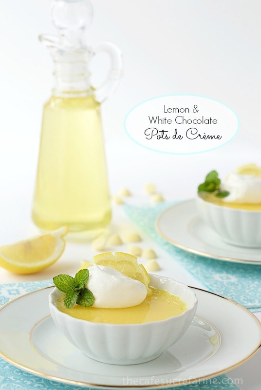 Lemon and White Chocolate Pots de Crème - do you have 10 minutes? That's all it takes (hands-on time) to whip up this beautiful, elegant and super delicious dessert!