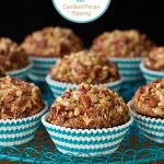 "Morning Glory Muffins with Candied Pecan Topping - one of those ""never-fail"" recipes! And I love that they're so delicious and loaded with healthy ingredients. The topping is amazing!"
