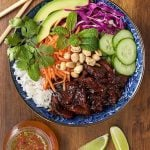 Vietnamese Caramelized Pork Salad Bowls