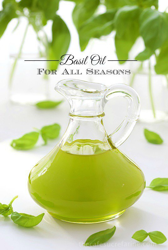 Basil Oil - I'm sure you've seen the little packs of basil at the grocery store. That and some oil is all it takes to make this fabulous condiment. Perfect for a dipping sauce or a drizzle for steak, fish, poultry and a zillion other things!