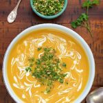 Thai Inspired Carrot and Yellow Pepper Soup