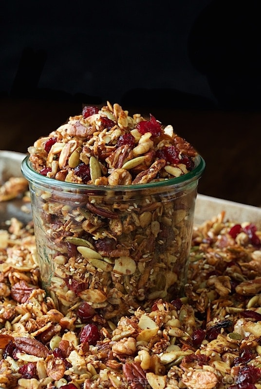 Paleo Granola with Nuts and Seeds