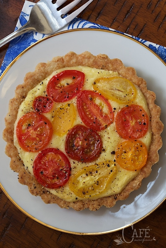 Goat Cheese and Tomato Soufflé Tarts - Delicious and make ahead, perfect for special celebrations. Everyone seems to love them!