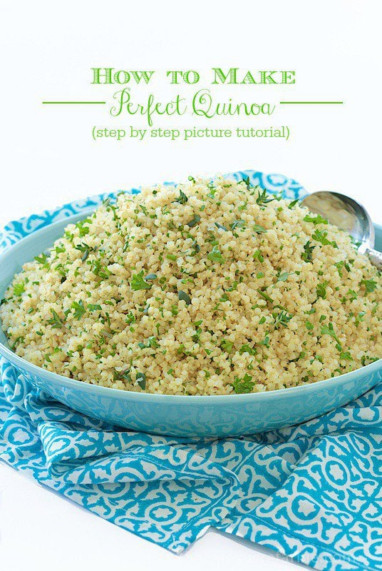 How to make perfect quinoa - a step by step, picture tutorial for fluffy, delicious quinoa. Make a batch and eat healthy all week long!