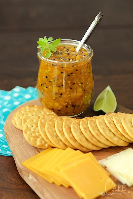 Mango Sriracha Chutney - this stuff is crazy good and so... versatile. It's fabulous for appetizers, as a sandwich spread, a base for pizza, a glaze for grilled chicken - you name it! www.thecafesucrefarine.com