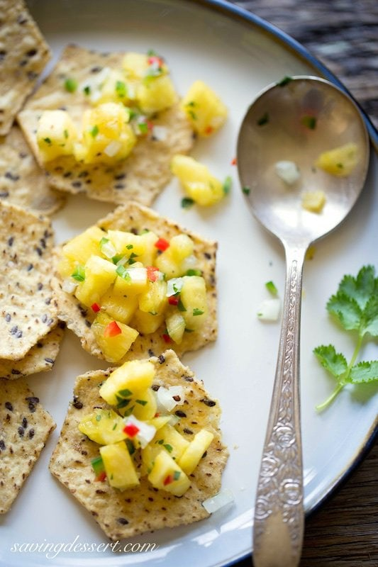 Pineapple Salsa - this looks so delicious and fresh I'm quite certain I would eat it by the bowlful!