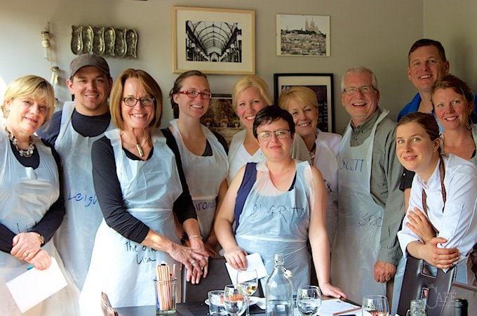 Cusine de Paris cooking class members - April 2015