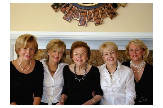 Mom and my three sisters not too long before she passed away. I love having sisters to share the fond memories with!