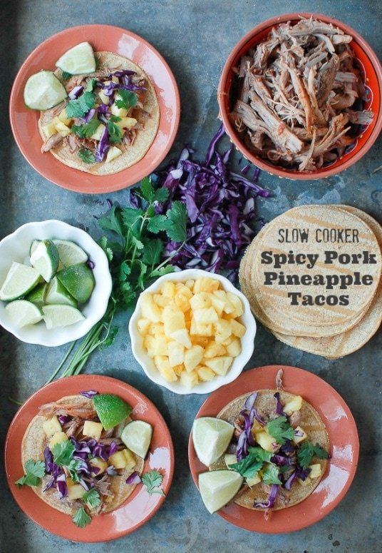 Slow Cooker Spicy Pork Pineapple Tacos - if slow cooked pork is on the ...