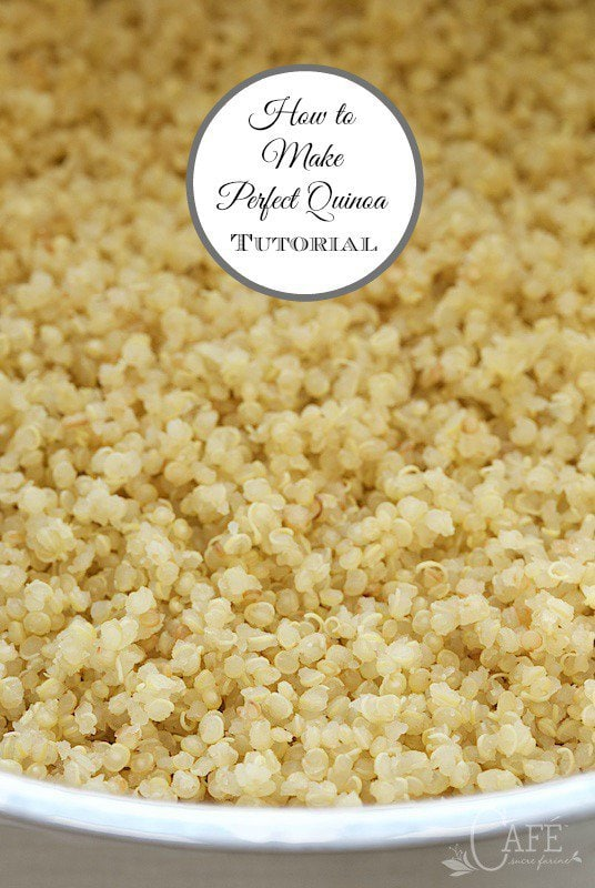 Close up picture of perfect quinoa