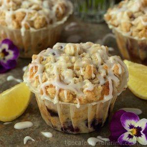 Bakery Style Blueberry Muffins /www.thecafesucrefarine.com