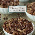 Chocolate Cherry Zucchini Cakes