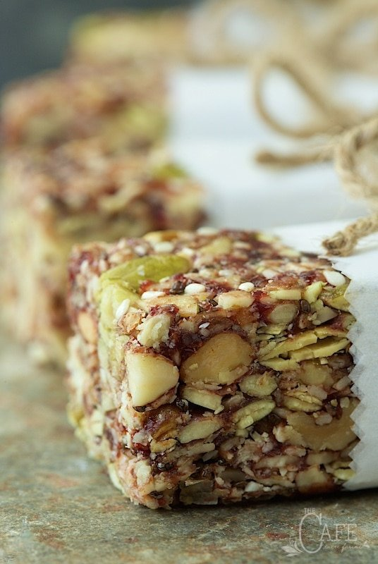 "Dried Cherry and Almond Energy Bars - not only incredibly healthy, these bars are crazy good. My son says they're ""better than Kind Bars!"" thecafesucrefarine.com"