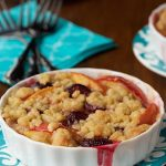 Fresh Peach and Sweet Cherry Crisp