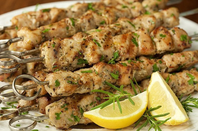 Lemon, Garlic and Rosemary Chicken Skewers