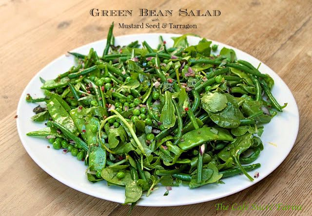 Green Bean Salad with Mustard Seeds and Tarragon - recipe from Ottolenghi's famous deli/café in London. It's fresh, vibrant and so... delicious! www.thecafesucrefarine.com