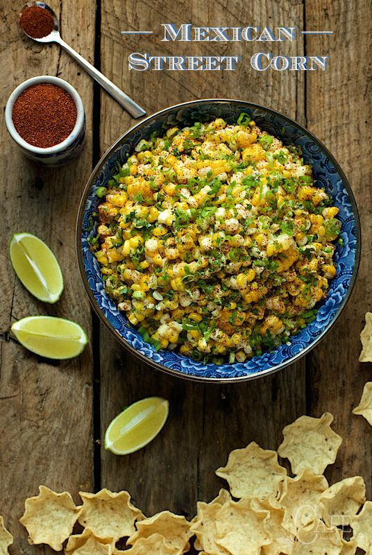 Mexican Street Corn - this stuff is CRAZY GOOD! It works double duty too, as a side or a scrumptious dip! thecafesucrefarine.com