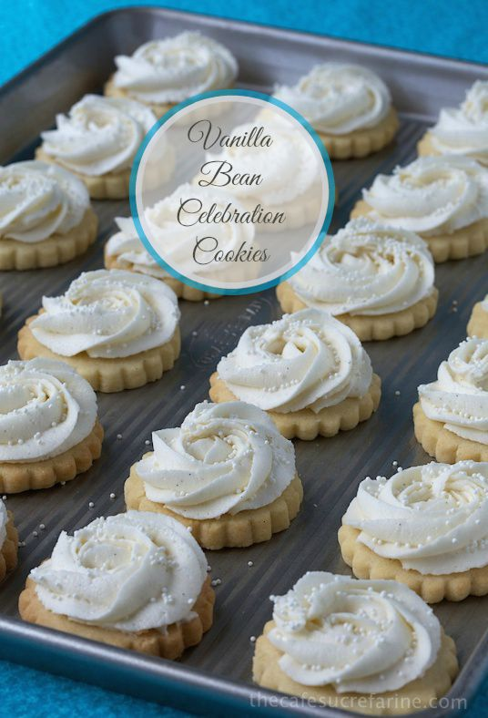 Vanilla Bean Shortbread Cookies - These cookies are simple to throw together and melt-in-your-mouth delicious - the perfect way to celebrate any special occasion. thecafesucrefarine.com
