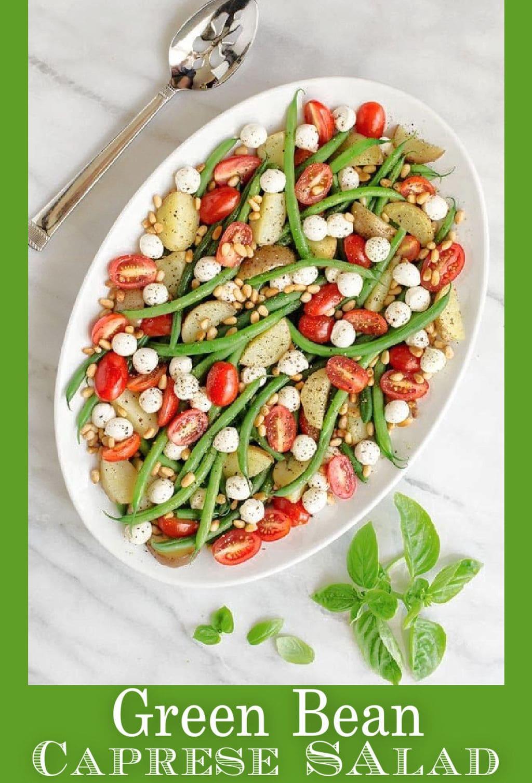 The perfect summer side! Green Bean Caprese Salad