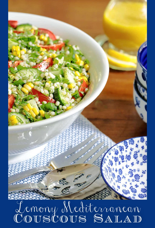 Lemony Mediterranean Couscous Salad