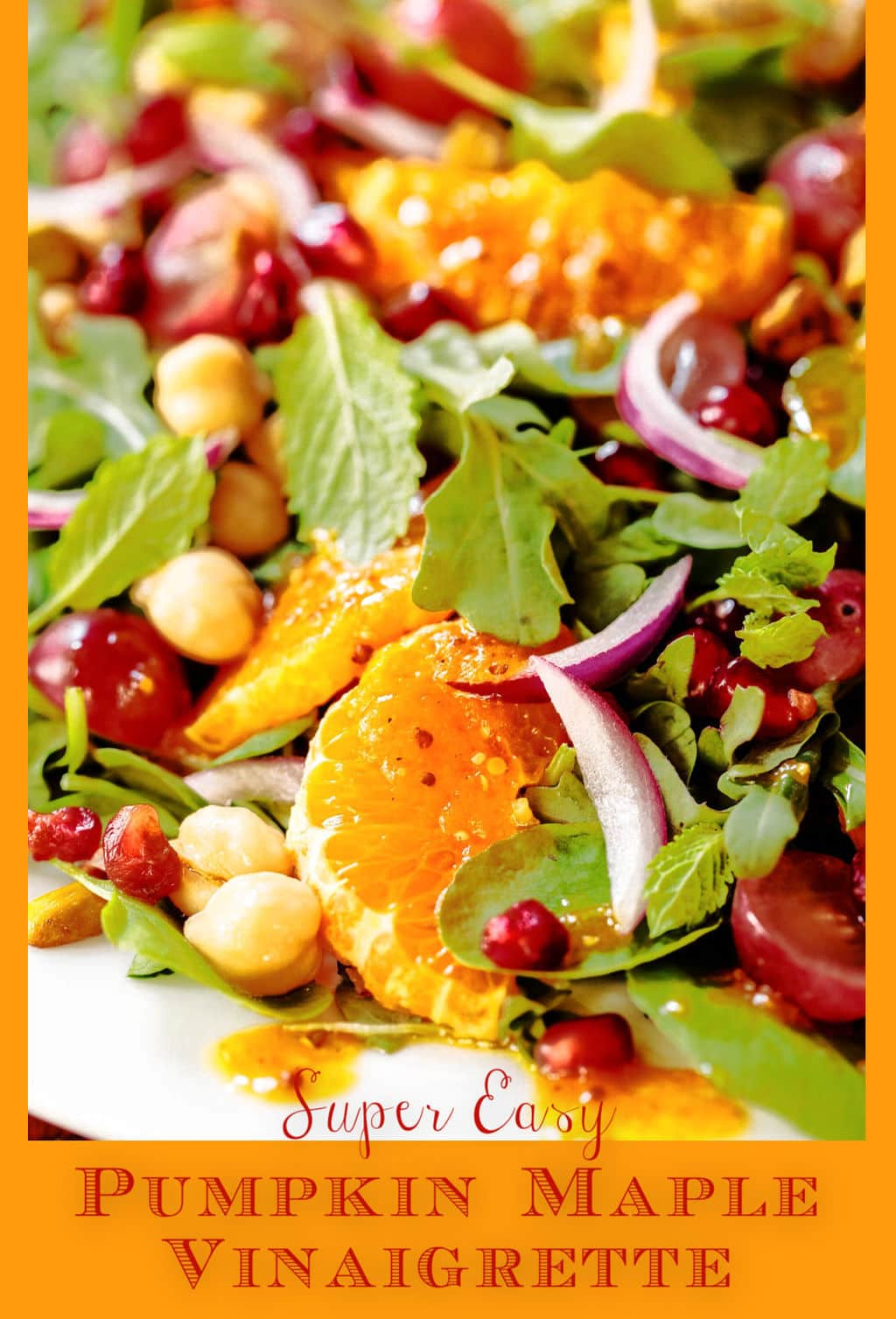 Pizzaz up Your Fall Salads with this Pumpkin Maple Vinaigrette!