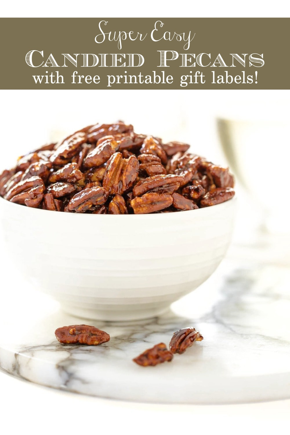 Easy Candied Pecans (with video)