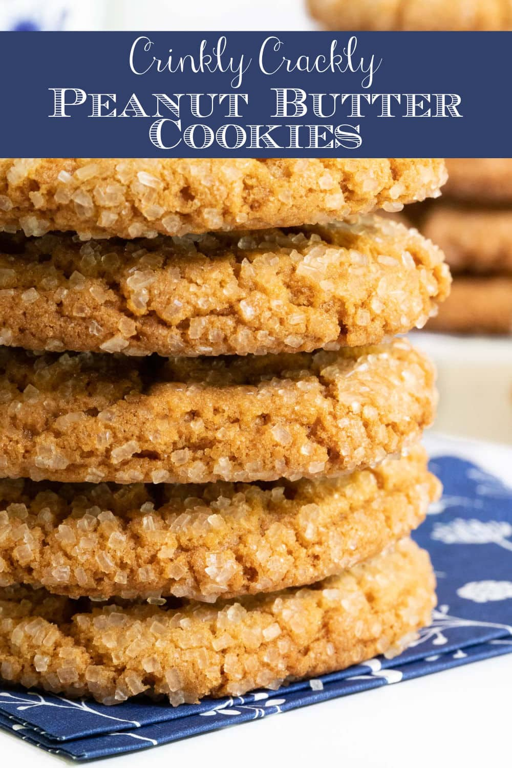 Crinkly Crackly Peanut Butter Cookies
