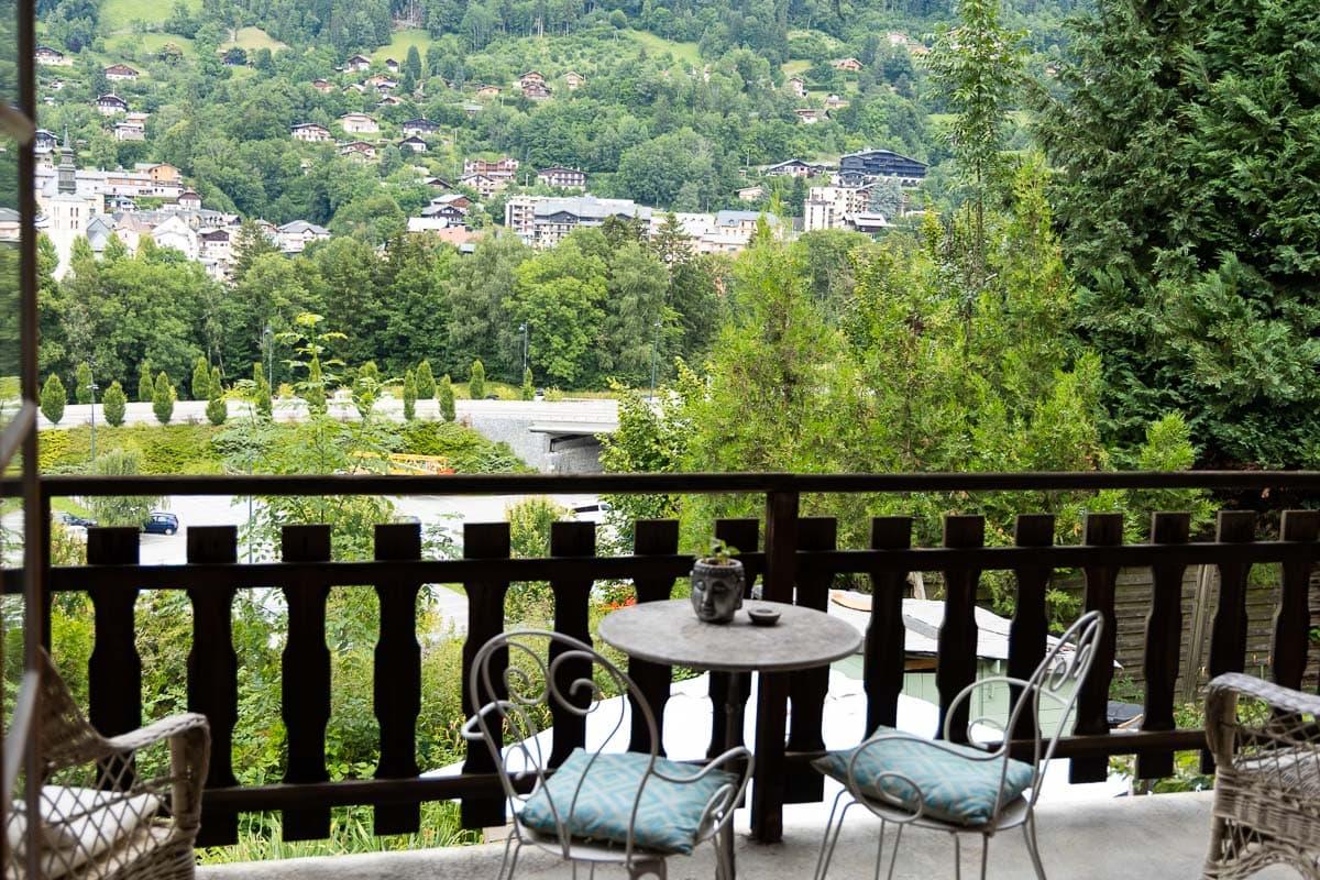 Horizontal of Emma's balcony in Saint-Gervais-les-Bains.