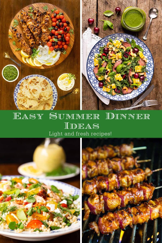 Easy, Delicious Summer Dinner Ideas