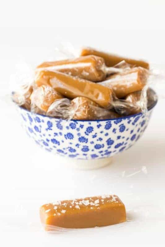 8 Minute Microwave Salted Caramels