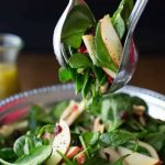 Apple Cranberry Spinach Salad with Honey Cider Dressing