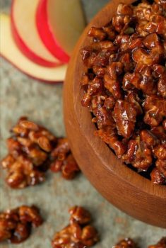 Apple Pie Candied Walnuts